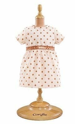 "Corolle Dmv06 Mon Premier Pink And Gold Dress For 12"" Dolls - New, Sealed"