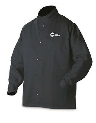 MILLER WELDING JACKET, 9oz. FR cotton  Large 244751