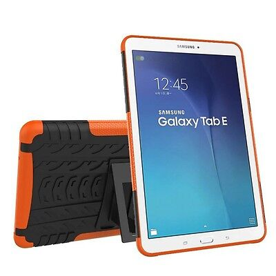 Hybrid Outdoor Protective Case Orange for Samsung Galaxy Tab E 9.6 SM T560 Cover