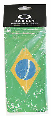 Brand New Oakley Brazil Flag MicroBag Microclear Cleaning / Storage Bag