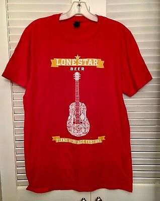 Lonestar Texas Beer Heritage Fest Concert Shirt Sign Mens Sz Sm