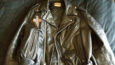 Guns N Roses Leather Jacket Appetite for Destruciton 1989 Very Rare Authentic