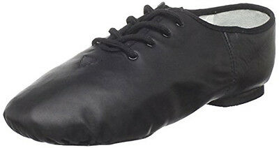 Dance Class J101 Girl's 2.5M (Fits Size 2) Black Lace Up Split Sole Jazz Shoe