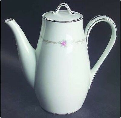 "Noritake Winthrop (N WINTH) Porcelain China 7 3/4"", 4 cup Coffee Pot with Lid"