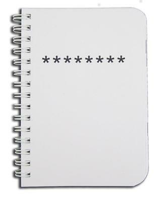 """BookFactory Password Journal / Organizer Book Keeper, 120 Pages - 8 1/2"""" x..."""