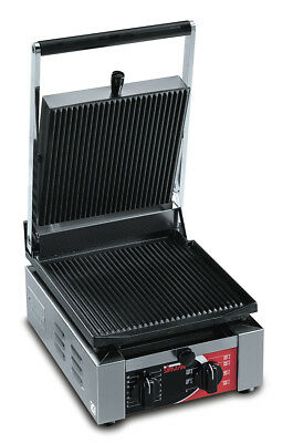 Sirman ELIO R Single Pannini Grill w/ Grooved Top & Grooved Bottom