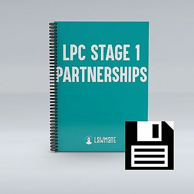 LPC Notes 2017, University of Law PARTNERSHIPS Notes