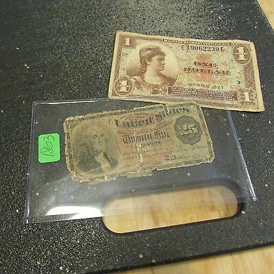 1863 Twenty Five   Cent Fractional Currency W One Mpc Note