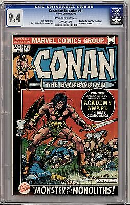 Conan the Barbarian #21 (Dec 1972, Marvel) CGC 9.4 NM  Barry Windsor-Smith Cover
