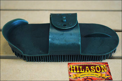 Hilason Horse Grooming Large Plastic Curry Comb With Handle Green