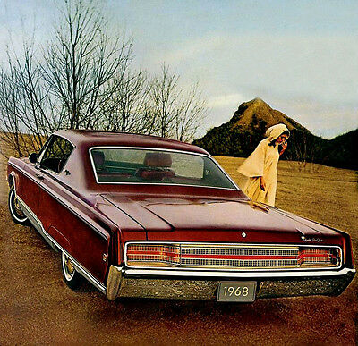 1968 Chrysler New Yorker Coupe, Refrigerator Magnet, 40 Mil thick