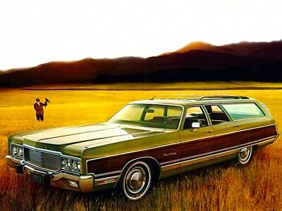 1973 Chrysler Town & Country station wagon, Refrigerator Magnet, 40 Mil thick
