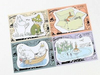 Moomin Die-Cut Sticky Notepad 20 Sheets/cute Memo Pad/cute Paper/small Note Pad