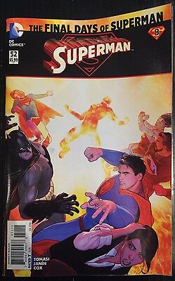 SUPERMAN #52 Death de NEUF 52 Superman FN /VF 1st imprimé DC Comics