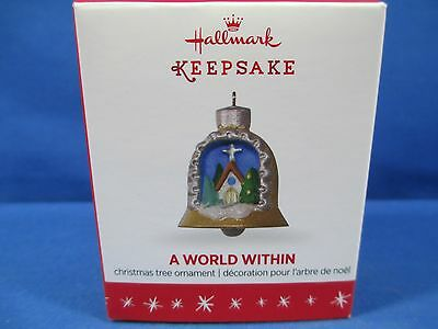 2016 Hallmark Keepsake Miniature Ornament A World Within 2Nd Series Church *new*