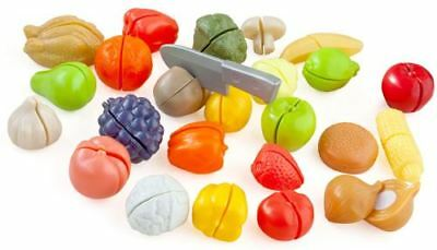 Cut And Play Food Pretend Food Fruit Veg Shop Kitchen Cooking Kids Toy New