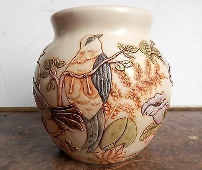 Rare Retired Harmony Ball Co. Harmony Kingdom Jardinia Birds & Flowers Cachepot