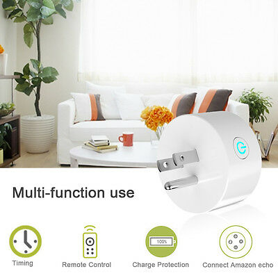Mini AC Smart Plug WiFi Outlet Works W/ Alexa Remote Control Socket For Phones