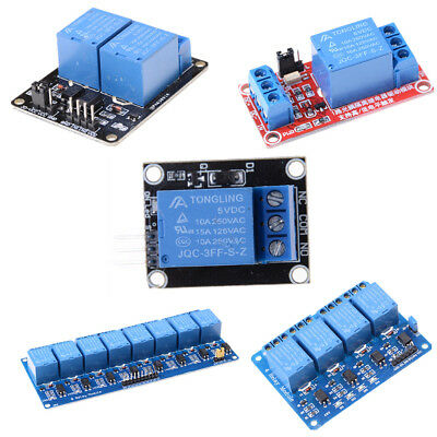5V 1/2/4/8 Channel Relay Board Module Optocoupler LED for Arduino PiC ARM LJ