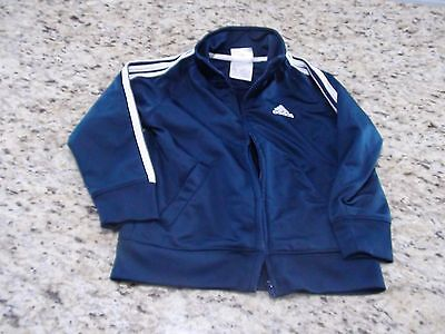 Adidas Toddler Track Jacket Navy Blue Size 36 Months GUC