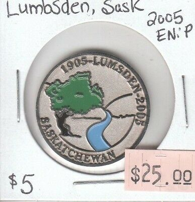 Lumbsden Saskatchewan Canada - Trade Dollar - 2005 Enameled