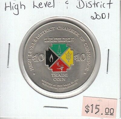 High Level & District Alberta Canada - Trade Dollar - 2001