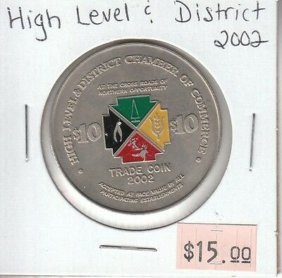 High Level & District Alberta Canada - Trade Dollar - 2002