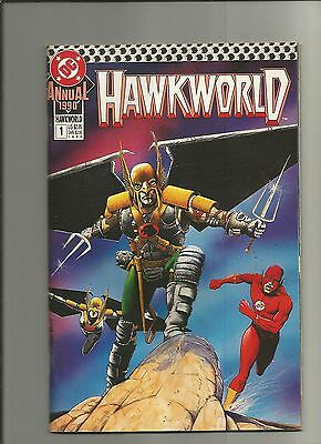 Hawkworld Annual #1   The Flash  Giant-Size  Dc  1990  Nice!!!