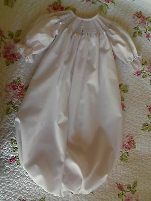 Ready To Smock White Daygown Saque And Bonnet Set 0-3 Months