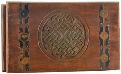 "Celtic Knot Wooden Chest 10""x6"""