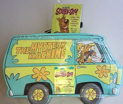 Scooby-Doo The Mystery Machine Candy Lunch Tin In Original Shrink Wrap