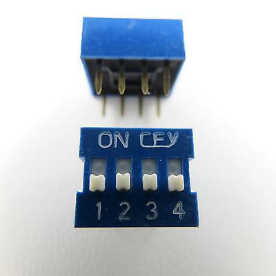 1x Dip Encoder Switch Standing Print 4 Pin Compartment Mini Coding Knitter On