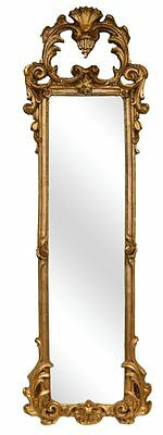 """38"""" French Ornate Strip Wall Mirror Made in USA in 40 Colors"""