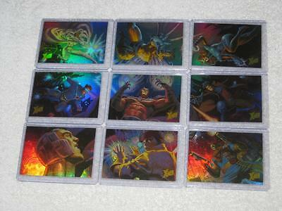 1996 Fleer Ultra X-Men Wolverine Holoflash Holofoil Set of 9 Trading Cards NM/M