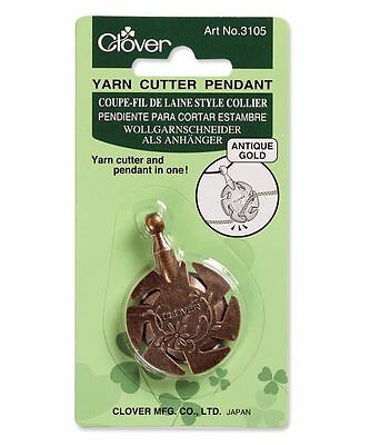 Clover Yarn Cutter Pendant (Antique Gold)