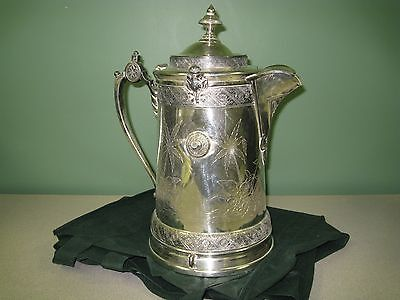 Antique Reed & Barton Circa 1879 Silver Plated Ice Water Pitcher