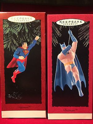 Hallmark Superman and Batman Ornaments