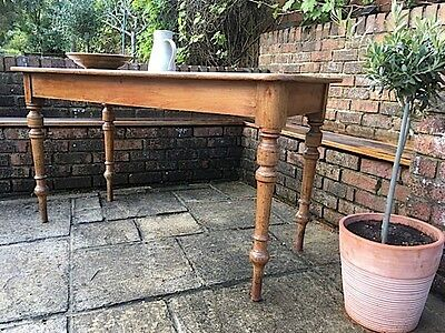 19th Century French Provincial Waxed Pine Side Table, Bread Table
