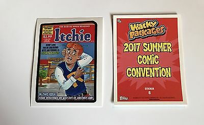 Itchie Wacky Packages Garbage Pail Kids 2017 Summer Comic Convention Archie