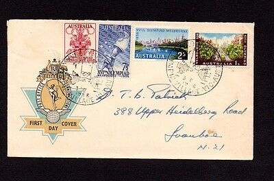 Australia 1956 Olympics Set On Fdc