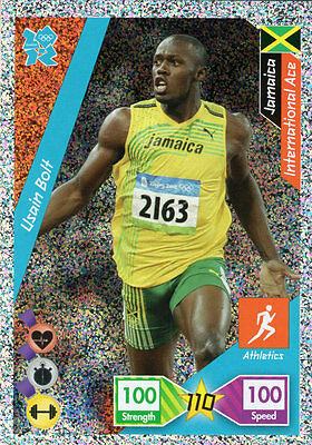 Usain Bolt - Panini Official London 2012 Olympics Adrenalyn Xl Athletics Jamaica