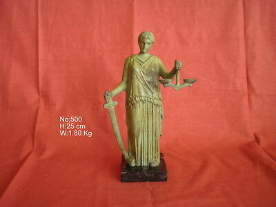 Ancient Greek Bronze Goddess Themis (Goddess Of Justice) Museum Replica