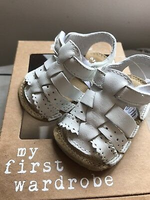NEXT Baby Sandals Shoes Summer 0-3 White Girls