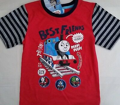 THOMAS & FRIENDS Boy Licensed short sleeve tee t shirt top red NEW sizes 4, 5
