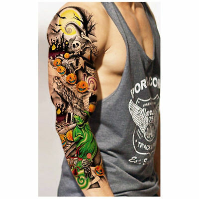 Large Temporary Tattoo Arm Body Art Removable Waterproof Tattoo Sleeve Stickers