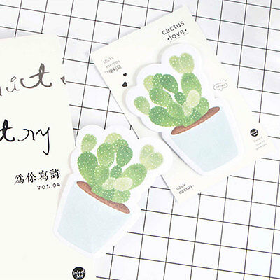 Cute Cactus Kawaii Memo Paper Book Sticky Notes Self-Stick Stationery Student