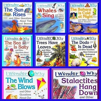 I Wonder Why Series: 8 Books Natural Science Questions for Young Kids Learning