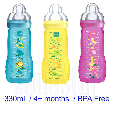 MAM Easy Active Baby Bottle 330ml Jungle Animal 4+ Months