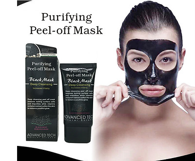 Advanced Charcoal Blackhead Remover Peel Off Facial Cleaning Black Face Mask