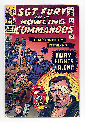Sgt. Fury and His Howling Commandos #27 G+ 1966 ~ Marvel Comic Book Stan Lee